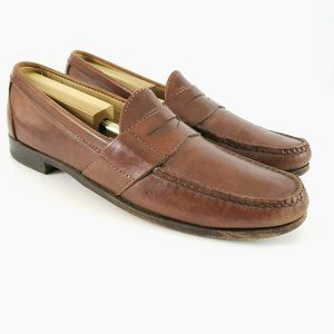 Allen Edmonds  Brown Leather Cameron Penny Loafers